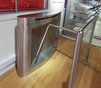 Half Height barrier rail turnstile systems Elite Ultra All Right Now Limited
