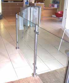 ITAB Glass Barrier Rail