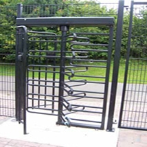 Full Height Turnstile Systems ITAB Vortex 100 Full Height Turnstile outside installation