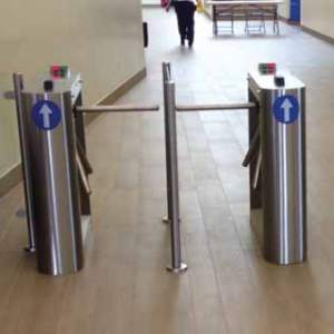 Half Height barrier rail turnstile systems Access Control ITAB TriFlo Premier Security Turnstile All Right Now Limited
