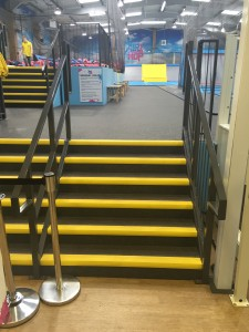 Air Hop Case Study - entrance stairs