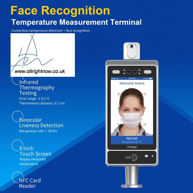 Body temperature screening Temperature Measurement Face Recognition Terminal Temperature Measurement Terminal Face Recognition Face recognition temperature measurement